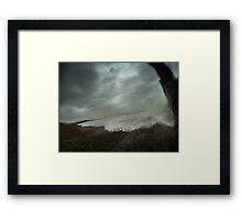 Just before impact Framed Print
