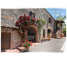 Farmhouse, Toscana, Italy, Landhaus, Toskana, Italien Poster