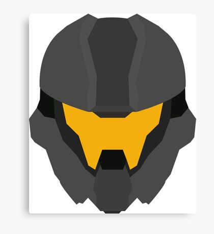 Halo Helmet Graphic Canvas Print