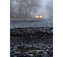 Asphalt`s holes on roadbed Photographic Print
