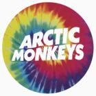 Arctic Monkeys Tie Dye Logo by vompires