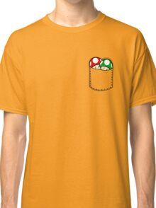 Red Green Mushrooms In Pocket Classic T-Shirt