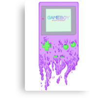 The Gameboy Melt Canvas Print