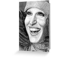 Bette Midler @ www.KeithMcDowellArtist.com Greeting Card