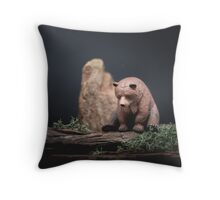 I can't bear it anymore Throw Pillow