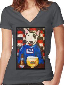 Spuds MacKenzie Women's Fitted V-Neck T-Shirt