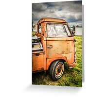 Rustic Single cab  Greeting Card