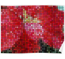 Mottled Red Poinsettia 2 Mosaic Poster