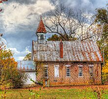 Old Delaware School and Church by Jerry E Shelton