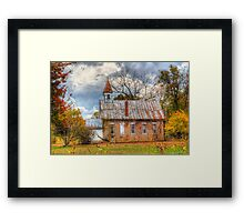 Old Delaware School and Church Framed Print