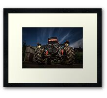 Tractor and Gas Station Framed Print