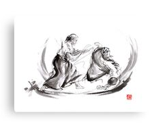 Aikido fight scenery martial arts drawing painting sketch art draw japan japanese school Metal Print