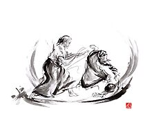 Aikido fight scenery martial arts drawing painting sketch art draw japan japanese school Photographic Print