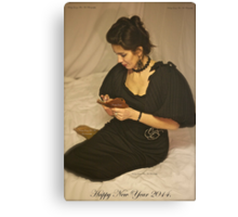 Sweet Dreams With Queen Adel. Happy New Year 2014. Tribute To Annie Lenox. Canvas Print