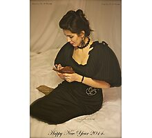 Sweet Dreams With Queen Adel. Happy New Year 2014. Tribute To Annie Lenox. Photographic Print