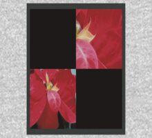 Mottled Red Poinsettia 2 Blank Q2F0 Kids Tee