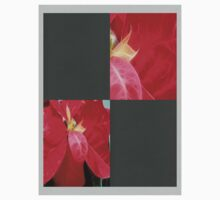 Mottled Red Poinsettia 2 Blank Q6F0 One Piece - Long Sleeve
