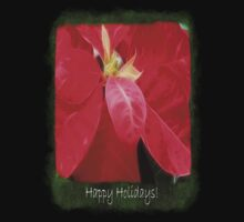 Mottled Red Poinsettia 2 Happy Holidays P1F5 Kids Clothes