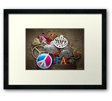 Hope, Peace & Love Framed Print