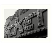 Ticket Booth (Black and White) Art Print