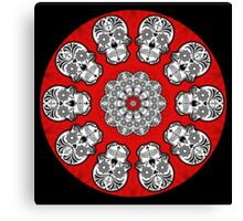 Day of the Dead Kaleidoscope Canvas Print