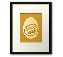 LINUX INSIDE Framed Print
