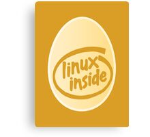 LINUX INSIDE Canvas Print