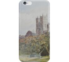 Watercolour of Durham Cathedral, 19th century iPhone Case/Skin
