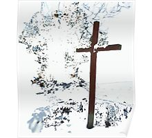Cross in the Snow (Michigan) Poster