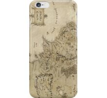 Middle earth map - The Hobbit iPhone Case/Skin