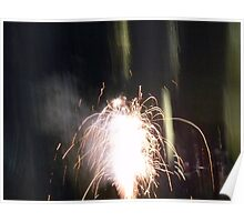 Firework Fountain Poster