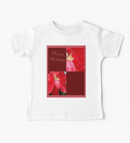 Mottled Red Poinsettia 2 Happy Holidays Q10F1 Baby Tee