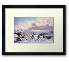 Road to Salem - Winter Landscape Framed Print