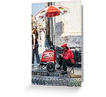 Ice Cream Seller - Peru Greeting Card