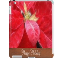 Mottled Red Poinsettia 2 Happy Holidays S1F1 iPad Case/Skin