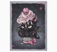 Goth Kitty in Cupcake Kids Tee