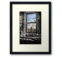 My Favorite View Is Manhattan Channel Framed Print