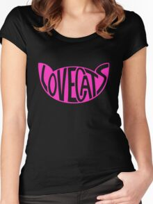 Lovecats - Pink Women's Fitted Scoop T-Shirt