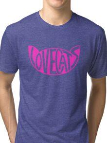 Lovecats - Pink Tri-blend T-Shirt