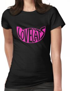 Lovecats - Pink Womens Fitted T-Shirt