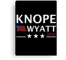 KNOPE WYATT PARKS AND RECREATION Canvas Print