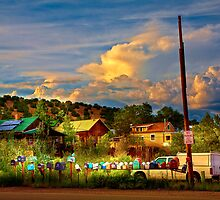 No Parking - Madrid - New Mexico by Madeline Bush Ellis