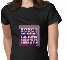 Robot Unicorn Laser Awesome Womens Fitted T-Shirt