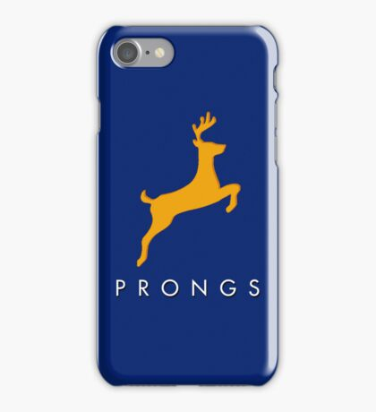 Prongs Stag - Yellow/Blue iPhone Case/Skin
