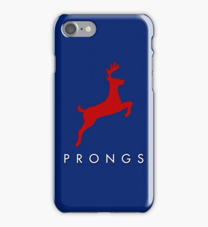 Prongs Stag - Red/Blue iPhone Case/Skin