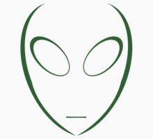 Alien 5 Green Baby Tee