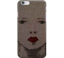 sad lady iPhone Case/Skin