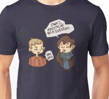 Moustache you a question Unisex T-Shirt