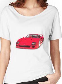 1987 Ferrari F40 Sports Car T-shirt design Women's Relaxed Fit T-Shirt
