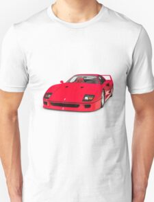1987 Ferrari F40 Sports Car T-shirt design T-Shirt